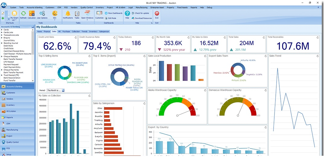 trading erp software